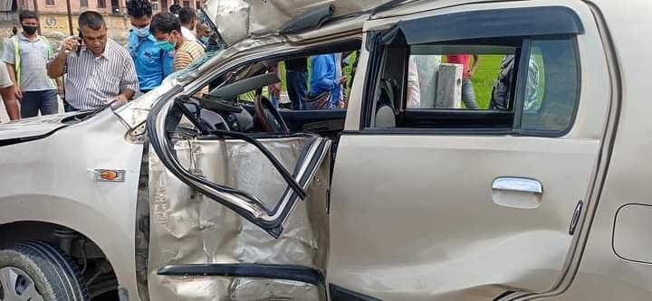 कार दुर्घटनामा बेलबारीकी महिलाको मृत्यु, तीन जना घाइते